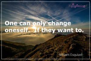 change oneself